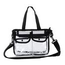 GOGO NFL Stadium Approved Clear Security Toe Bag Crossbody Messenger Shoulder Bag w/Strap
