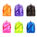 GOGO Clear Backpack Student Transparent School Bookbag Candy Color Daypack