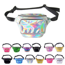 GOGO Holographic Laser Fanny Packs Zipper Sport Pouch Travel Waist Pack Bum Bag