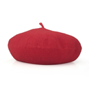 (Price/24 PCS) Opromo French Style Lightweight Classic Wool Beret, 11 inches Diameter