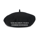 Opromo Personalized Text Embroidery Custom Wool French Beret Women Ladies Art Basque Hat