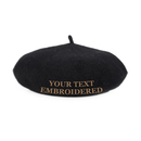 Opromo Custom Personalized Text Embroidery Kids Wool French Warm Beret Girls Artist Hat