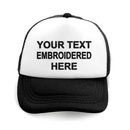 Opromo Custom Personalized Text Embroidery 2 Tone Mesh Curved Bill Trucker Cap for Kids and Adult