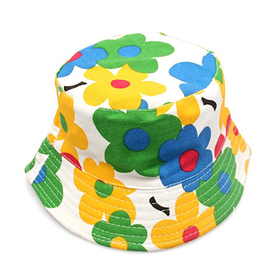 Opromo Kids Cotton Twill Bucket Hat Children Summer Outdoor Sun Protection Hat-Purple-48 PCS