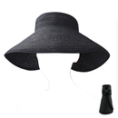 Opromo Fashion Girls Lady Beach Sun Visor Foldable Roll Up Wide Brim Straw Hat