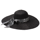 Opromo Women's Hollow Out Wide Brim Straw Beach Sun Hat Bowknot Floppy Cap