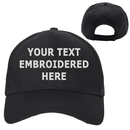 Opromo Personalized Text Embroidery Custom Classic Plain Baseball Cap Polo Style Low Profile Hat