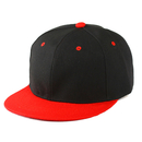Opromo Plain Two Tone Flat Bill Snapbacks Baseball Cap, Adjustable Hiphop Hat