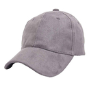 Opromo Classic 6 Panel Faux Leather Suede Baseball Cap Adjustable Plain Dad Hat