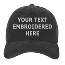 Opromo Custom Personalized Text Embroidery Vintage Washed Baseball Cap Unisex Twill Adjustable Dad Hat