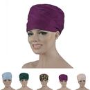 Opromo Unisex Round Cotton Scrub Hat Adjustable Bouffant Scrub Caps