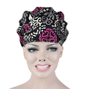 Opromo Bouffant Skull Hat Sweat Bleach Friendly Banded Hat for Women Ponytail