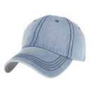 Opromo Low Profile Unstructured Denim Washed Dad Cap Adjustable Baseball Cap Hat