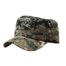 Opromo Military Style Cotton Flat Top Peaked Cap Short Bill Camo Cadet Army Cap