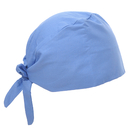 Opromo Adjustable Cotton Bleach Friendly Skull Cap Hat with Sweatband for Ponytail