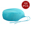 (Price/100PCS) Opromo Professional Disposable Tie on Cap Unisex Hat