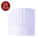 (Piece/25pieces) Opromo Disposable Non Woven Chef Hat for Kitchen Food Restaurant