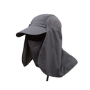 Opromo Summer UV shielding Sun Cap Flap Hats Removable Neck and Face Flap Cover