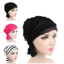 Opromo Chemo Cancer Head Scarf Hat Cap Turban Headwear Women Ruffle Beanie Scarf