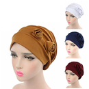 Opromo Chemo Hat Stretch Flower Beanie Cap Turban Headwear for Cancer Patients