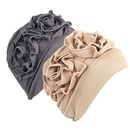 Opromo 2 Pack Womens Flower Chemo Hat Beanie Turban Headwear for Cancer Patients