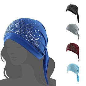 09518ca0cf5 Opentip.com  Opromo Women s Scarf Pre Tied Chemo Hat Headwear for Cancer  Patients Summer