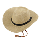Opromo Adults Kids Cowboy Straw Hat Wide Brim Hat Summer Beach Sun Cap Foldable