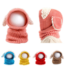 Opromo Baby Girls Boys Winter Warm Scarf Woolen Earflap Hood Scarves Skull Caps
