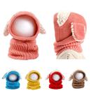 Opromo Baby Girls Boys Winter Warm Scarf Woolen Earflap Hood Scarves Skull Caps