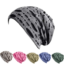 Opromo Unisex Soft Stretchy Vintage Ripped Design Slouch Beanie Cutout Skull Hat