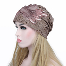 Opromo Women's Lace Flower Slouchy Beanie Hat Chemo Cancer Alopecia Turban Cap