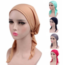 Opromo Women Ruffle Chemo Beanie Hat Pre-Tied Head Scarf Hat for Cancer Patients