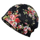 Opromo Women's Floral Lace Beanie Hat Slouchy Cancer Chemo Cap Turban Headwear