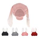 Opromo Baby Kids Boy Girl Knitted Crochet Rabbit Ear Beanie Winter Warm Hat Cap