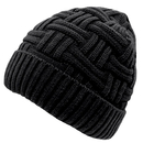 Opromo Men's Winter Fleece Lined Knitting Skull Cap Wool Warm Slouchy Beanie Hat
