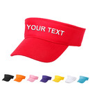 Personalized Text Custom Embroidery Adult Kids Cotton Plain Sport Sun Visor Adjustable Cap Tennis Golf Hats
