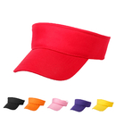Opromo Adult Kids Cotton Plain Sport Sun Visor Adjustable Cap Tennis Golf Hats