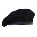 Opromo  Inspection Ready Beret with Leather Sweatband No Flash Wool Beret
