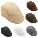 Opromo Unisex Spring Summer Newsboy Cabbie Flat Driving Golf Cap Linen beret hat