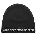 Opromo Custom Personalized Text Embroidery Men's Fleece Hat Lightweight Soft Warm Winter Beanie Skull Cap