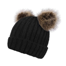 Opromo Baby Winter Warm Knit Hat Infant Toddler Kids Double pom pom Beanie Cap