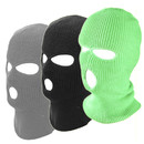 Opromo 3-Hole Balaclava Knit Sew Outdoor Full Face Cover Thermal Ski Cap