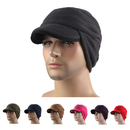 Opromo Winter Warm Skull Cap Outdoor Windproof Fleece Earflap Hat With Visor