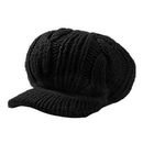 Opromo Womens Newsboy Cap Winter Visor Beret Cold Weather Cable Knit Beanie Hat