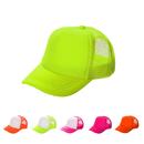 TOPTIE Blank Neon Foam Poly Mesh Trucker Hat Cap, Adjustable Snapback Hi Vis Cap