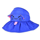 Opromo Kids Girls Wide Brim Visor Sun Hat UV Protection Foldable Beach Cap
