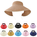 Opromo Fashion Women Girls Foldable Roll Up Wide Brim Sun Visor Beach Straw Hat