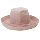 Opromo Women's Cotton Hat with Inner Drawstring UPF50+ Wide Brim Bucket Sun Hat