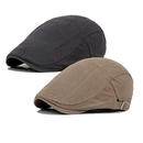 Opromo Men's Cotton Flat Cap Ivy Gatsby Newsboy Hunting Driving Hat