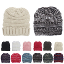 Opromo Kids Baby Toddler Stretch Ribbed Knit Children's Winter Hat Beanie Cap